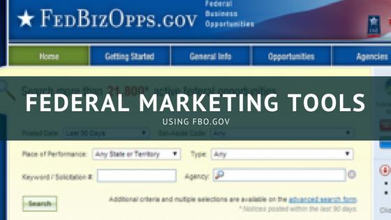 federal marketing tools FBO.gov